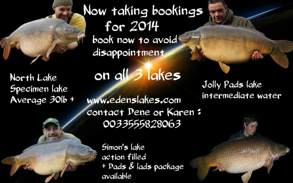 2014 BOOKINGS NOW BEING TAKEN