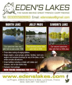 Visit Eden's Lakes in 2017/2018