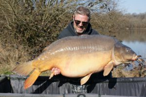 63lb mirror banked by Dene
